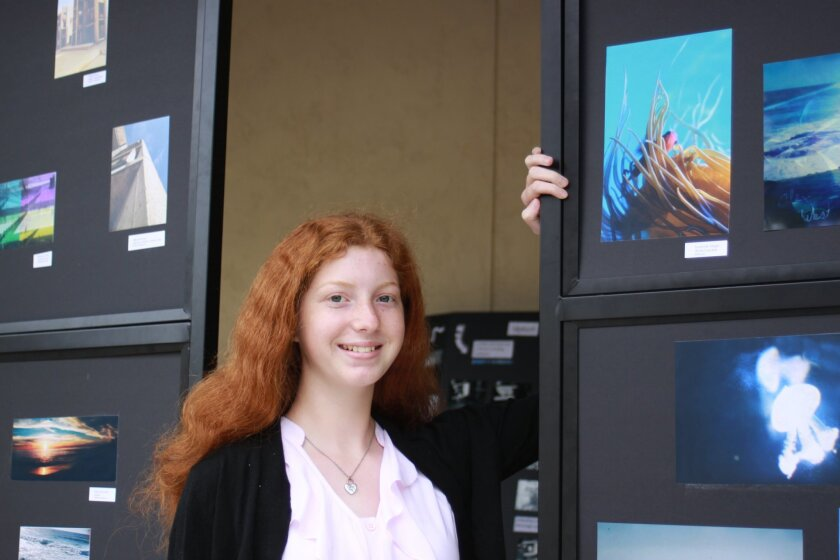 Suzanne Yorgin with her colorful nature photo 'Hidden.'