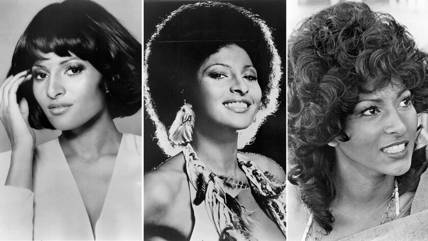 """Pam Grier in """"Foxy Brown,"""" and , far right, """"Coffy."""""""