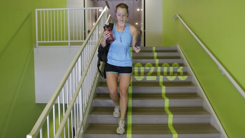 Taking the stairs instead of waiting for an elevator can help you meet the federal government's new targets for physical activity.