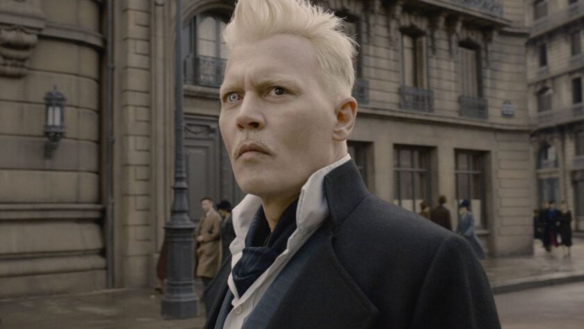 "JOHNNY DEPP as Gellert Grindelwald in Warner Bros. Pictures' fantasy adventure ""FANTASTIC BEASTS: T"
