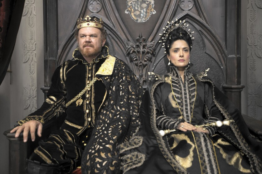 "John C. Reilly and Salma Hayek in ""Tale of Tales."""