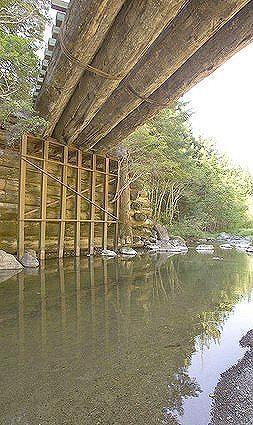 Old log bridge