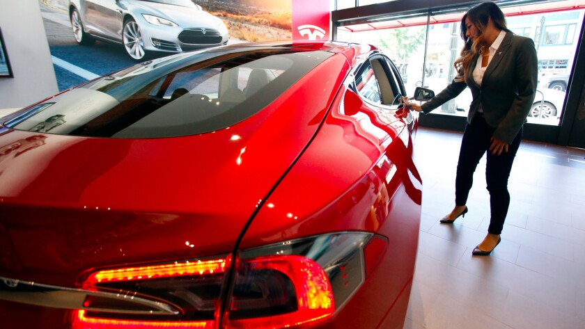 Tesla store in Pasadena.