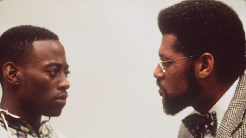 """Omar Epps, left, and Laurence Fishburne as student and professor in John Singleton's """"Higher Learning."""""""