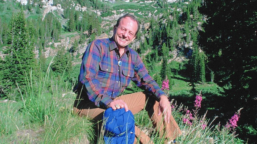 Dick Bass in an undated photo; he was the first person to climb the highest peak on each of the seven continents. He died Sunday at the age of 85.