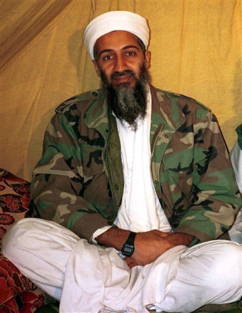 This is an undated file  photo of al Qaida leader  Osama bin Laden, in Afghanistan.  Bin Laden has issued a new audiotape urging Muslims to launch a jihad, or holy war, to stop the Israeli offensive in Gaza.  The authenticity of the tape cannot be independently confirmed.    (AP Photo)
