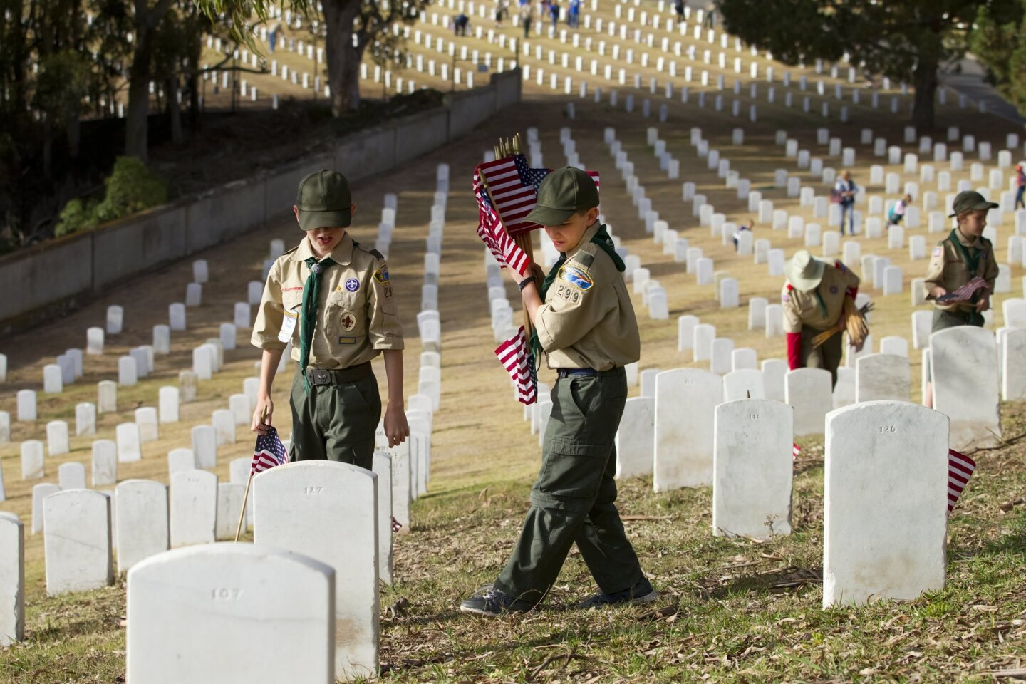 Thousands of scouts from the San Diego area took part in the annual Fort Rosecrans Memorial Day Flag Placement Service Project.