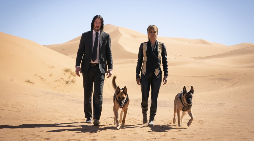 """Keanu Reeves and Halle Berry in """"John Wick: Chapter 3 — Parabellum"""" (2019)"""