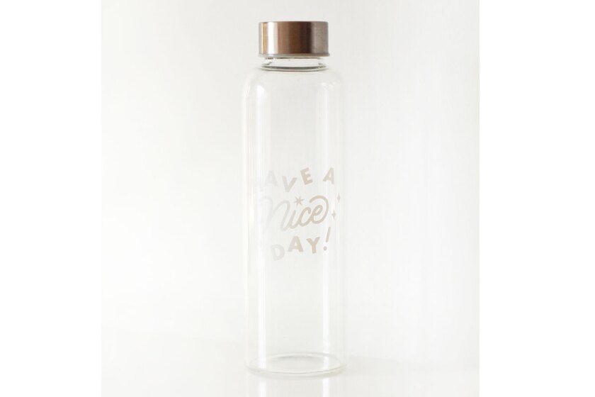 A water bottle from the brand Have a Nice Day.