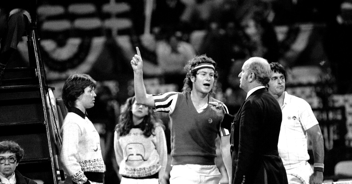 Commentary: 'You cannot be serious' about taking John McEnroe-esque fire out of tennis