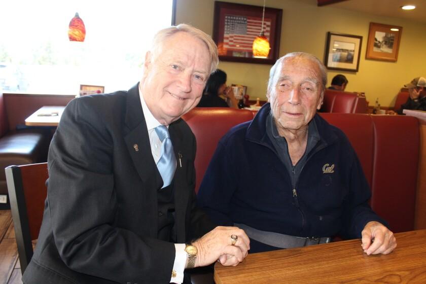 Longtime Del Mar Rotarians Marty Peters and Al Graff.
