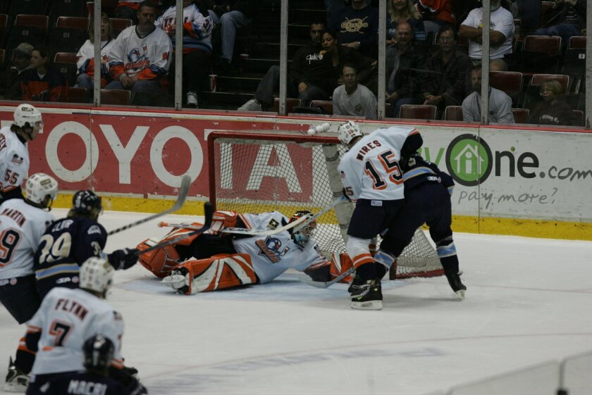 The Gulls hockey home playoff opener vs. Fresno in 2006.