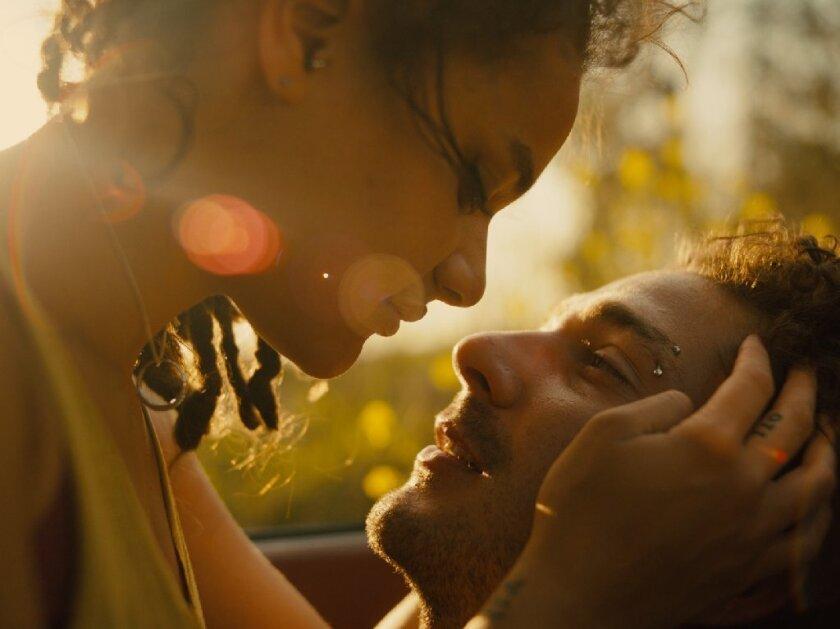 "Sasha Lane as Star and Shia LaBeouf as Jake in ""American Honey."""