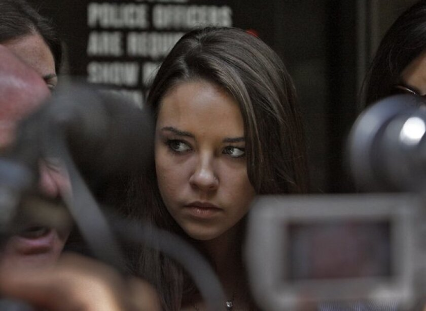 Alexis Neiers outside a courthouse in 2010.