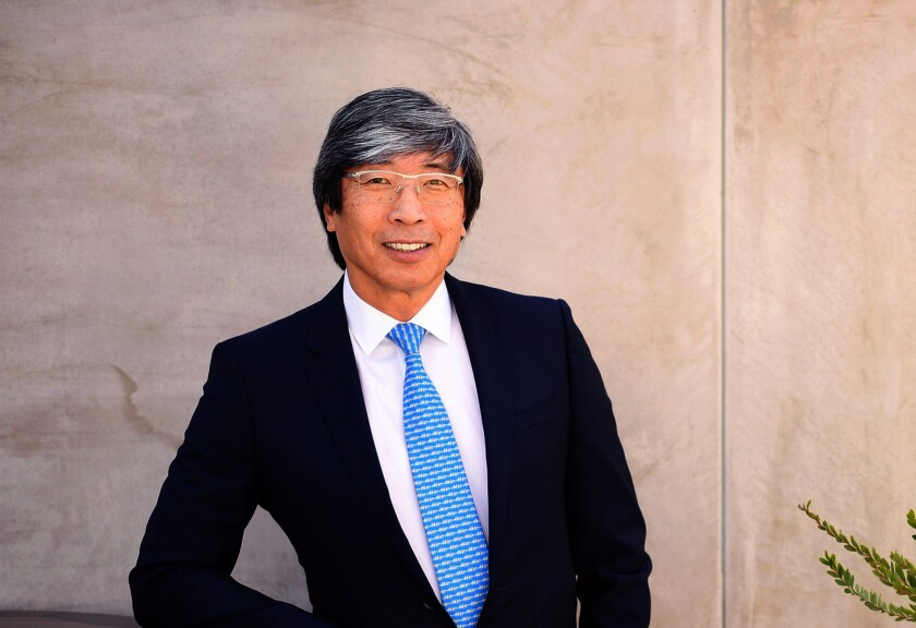 Dr. Patrick Soon-Shiong at his office in Culver City in March 2018. (Christina House / Los Angeles Times)