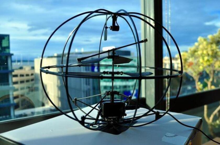 The Puzzlebox Orbit is a helicopter controlled by brain waves.