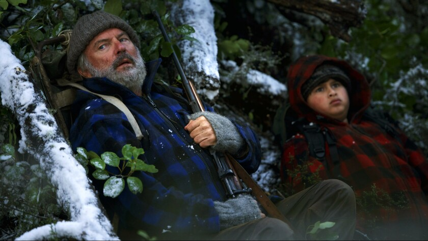 Sam Neill, left, and Julian Dennison in a scene from 'Hunt For The Wilderpeople.'