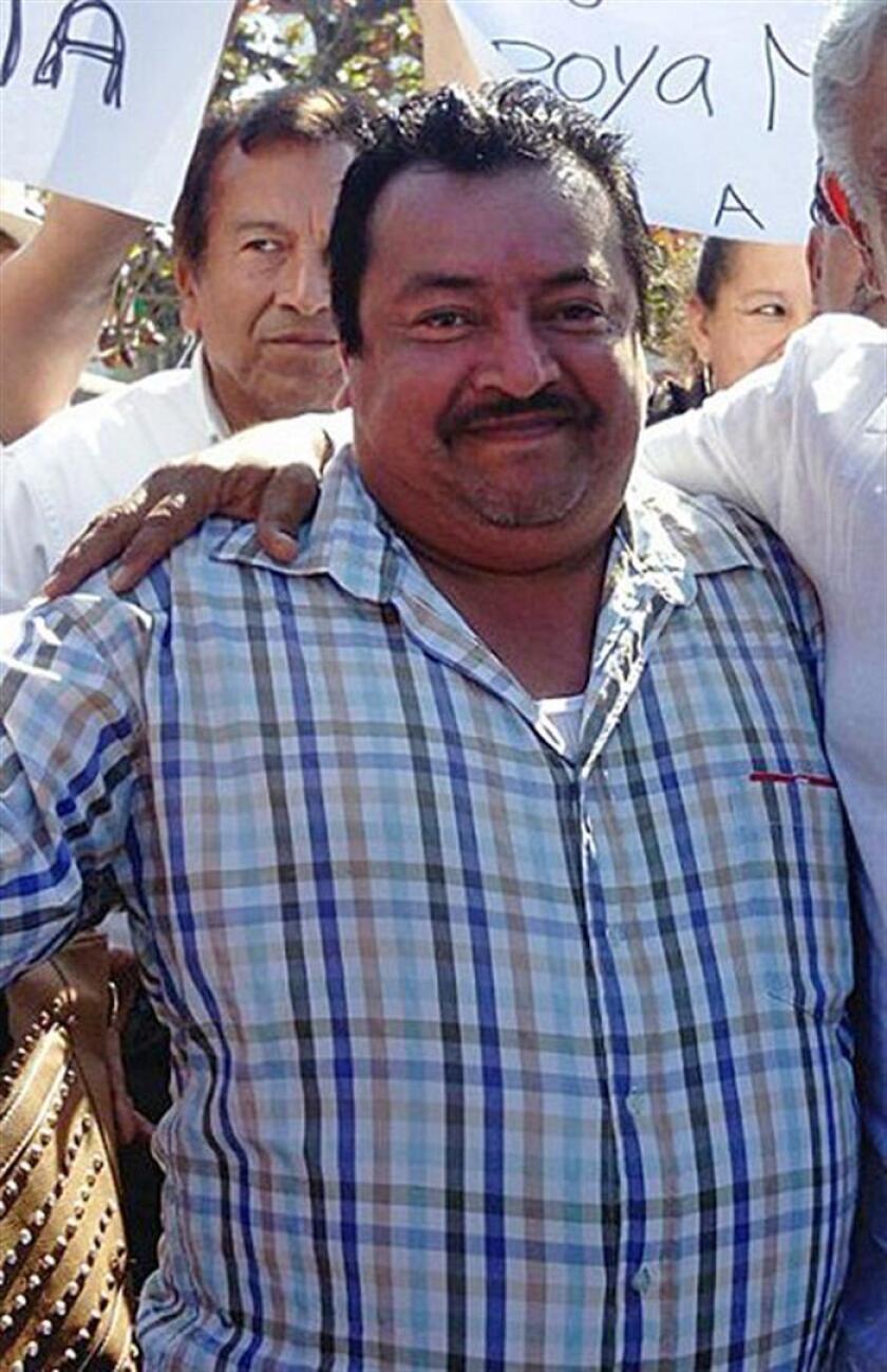 Fotografía distribuida por colegas del periodista mexicano Leobardo Vázquez Atzin, del sitio de noticias digitales Enlace de Gutiérrez Zamora, Veracruz (México). EFE/STR/SOLO USO EDITORIAL/MEJOR CALIDAD DISPONIBLE