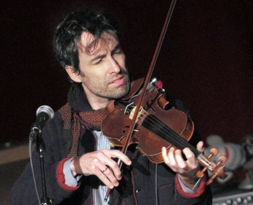 Andrew Bird performing at Largo in West Hollywood.