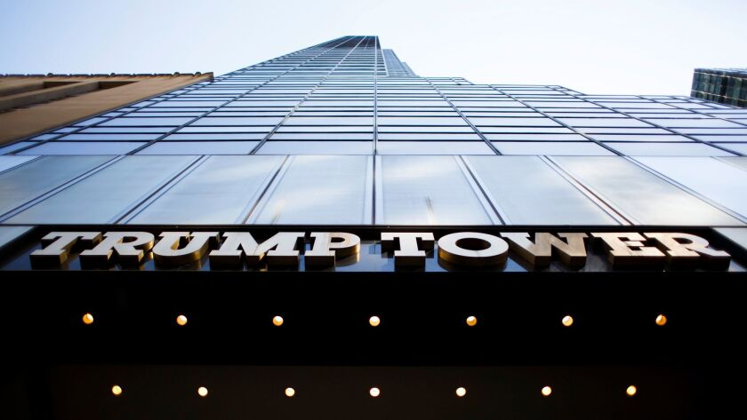 A view of Trump Tower in New York, where President Donald J. Trump has a home and the main office of his company.