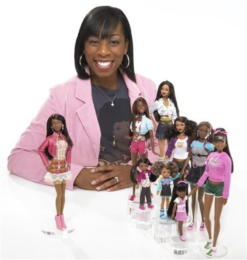 "This photo released by Mattel shows ""Barbie So In Style"" designer Stacey McBride-Irby.(AP Photo/Mattel)"
