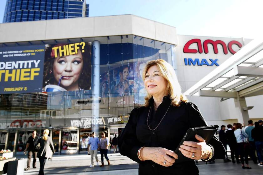 Veteran marketing strategist and researcher Catherine Paura and her sister, Angela, launched Global Marketing and Research Inc. in Sherman Oaks a year ago to provide worldwide market analysis to such clients as Warner Bros., Sony Pictures, DreamWorks Studios and Relativity Media. Above, Paura at the AMC Century City multiplex in January.