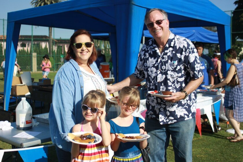It was a bright and hot morning in La Jolla July 23 — and not just from the pancakes on the griddle — at the Kiwanis Club of La Jolla pancake breakfast. Held at La Jolla Rec Center, families such as the Johnsons —Therese, Mike, Claire and Savannah — enjoyed all-you-can-eat pancakes with all the fix