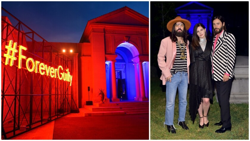Gucci Guilty Throws A Fragrance Party To Die For At The Hollywood Forever Cemetery Los Angeles Times