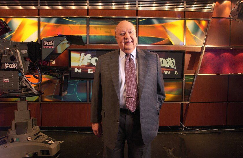 Roger Ailes, Chairman and CEO of Fox News and the Fox Television Stations Group.