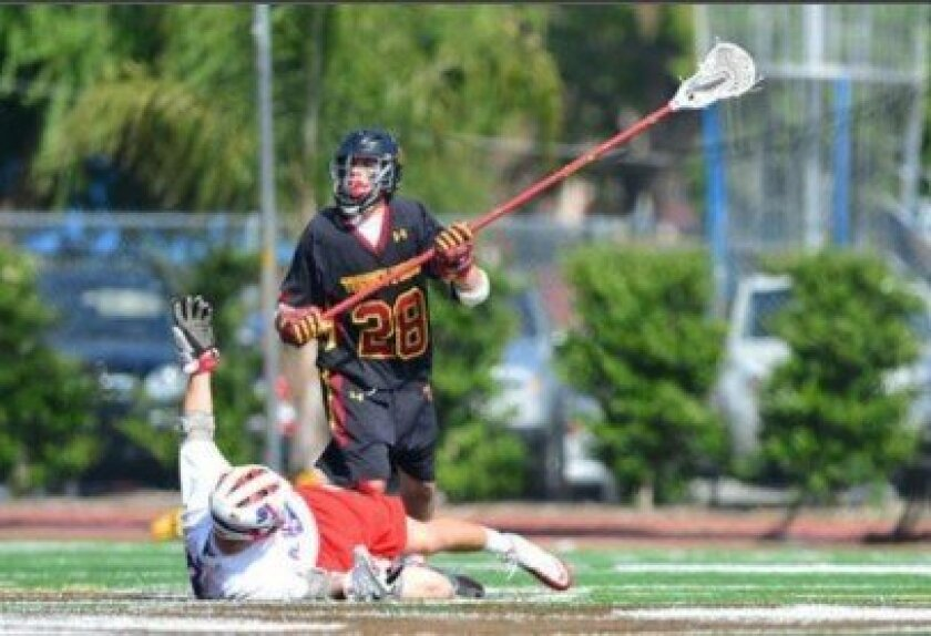 TPHS sophomore Beau Botkiss (number 28, pictured here in the midst of playing), is already committed to join Cornell University's rankings in the fall of 2016. Courtesy photo