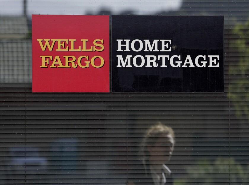 A Wells Fargo Home Mortgage office in La Habra.