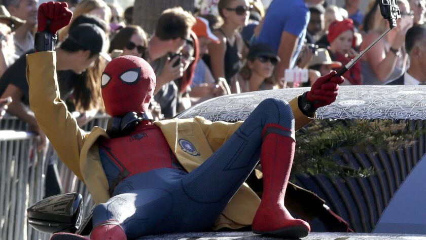 Spider-Man: Homecoming premiere in Hollywood, California