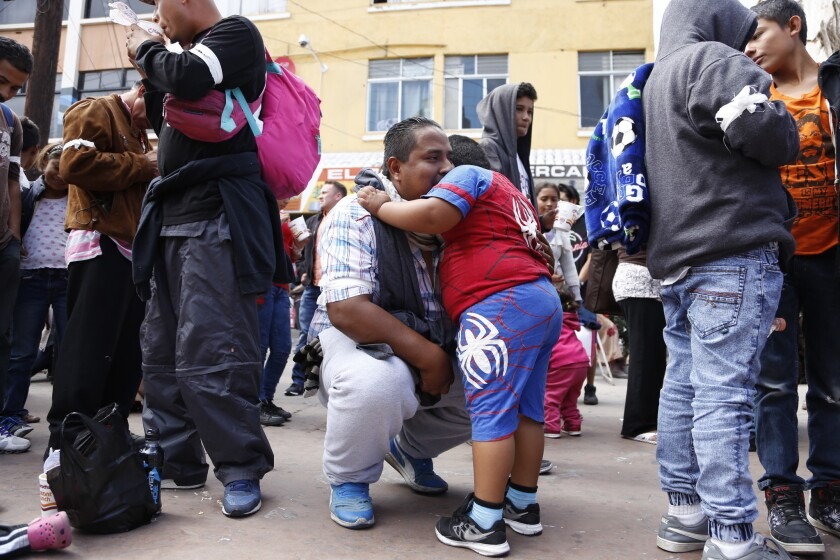 The caravan of Central America seek asylum at Chaparral