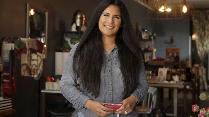 Amanda Alvarado, who owns an interior design business in Whittier, grew up going to the polls with her immigrant-turned-U.S. citizen mother. When Alvarado turned 18, she cast her first ballot and never looked back.