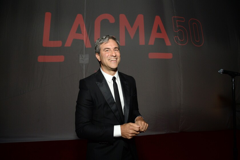 Museum Director Michael Govan speaks at LACMA's 50th Anniversary Gala event on April 18.