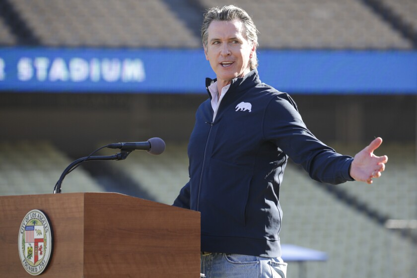 Gov. Gavin Newsom faces a possible recall election.