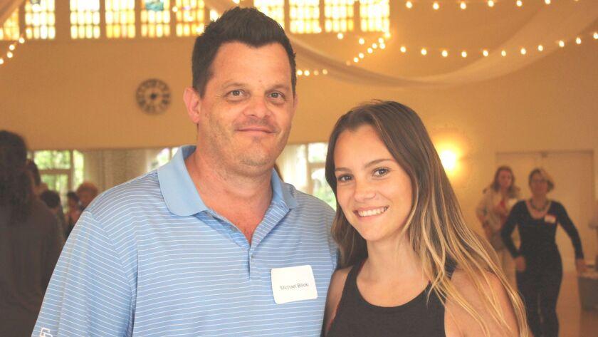 Dad, Michael Bilicki, and daughter, Anabella (18), attend the 'Women in Leadership' talk at La Jolla