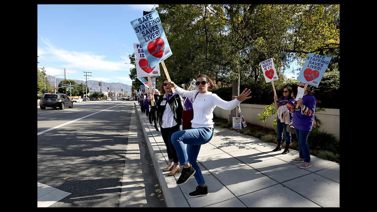 Photo Gallery: Registered nurses picket outside Providence St, Joseph Medical Center in Burbank