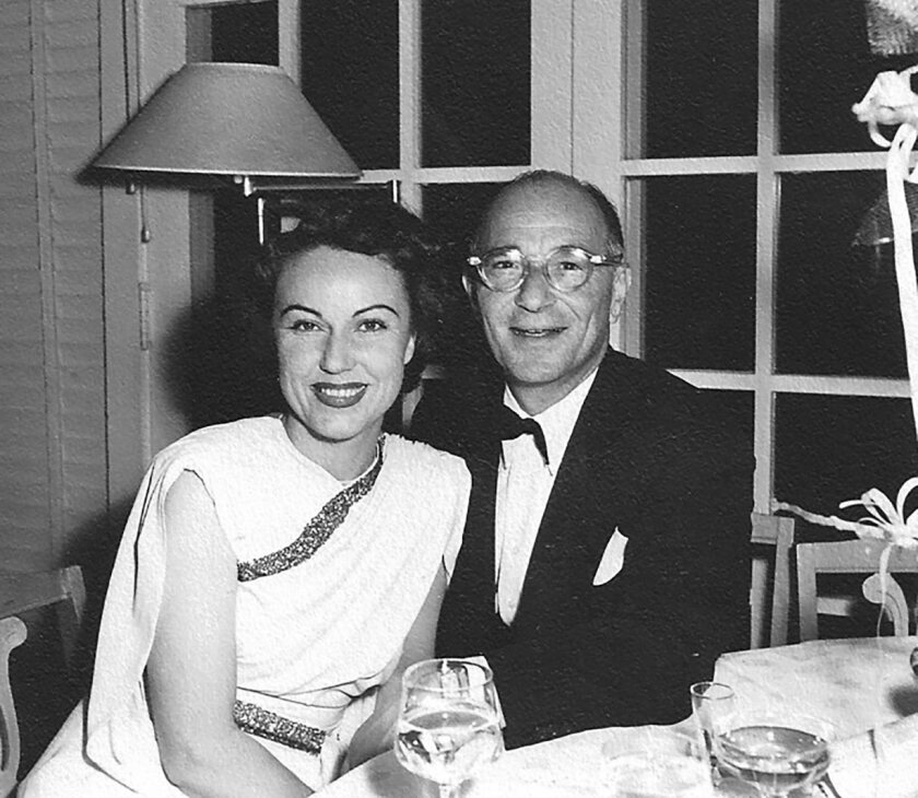 """This 1949 photograph of Fay Wray and Robert Riskin at a Hollywood restaurant is featured in the book """"Fay Wray and Robert Riskin: A Hollywood Memoir."""""""