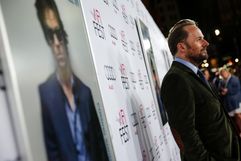 """Director Rupert Wyatt, shown at the premiere for """"The Gambler"""" in 2014, had to back out of the """"Gambit"""" project."""
