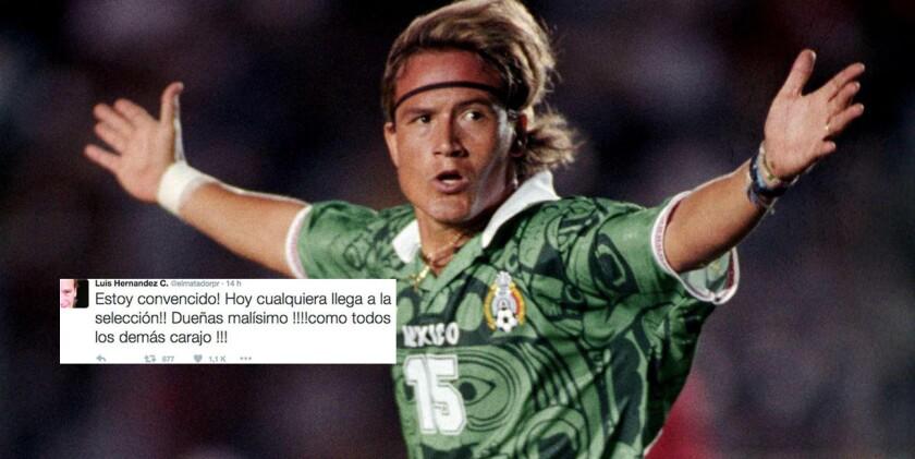Luis Hernández, ex figura de la selección mexicana.