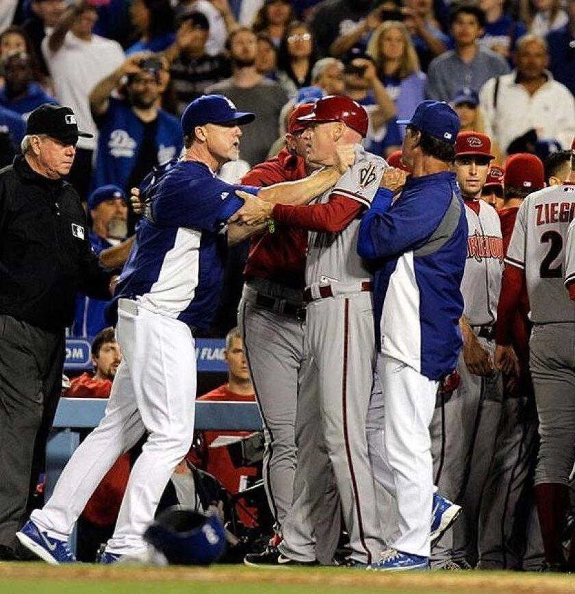 Dodgers-Diamondbacks brawl