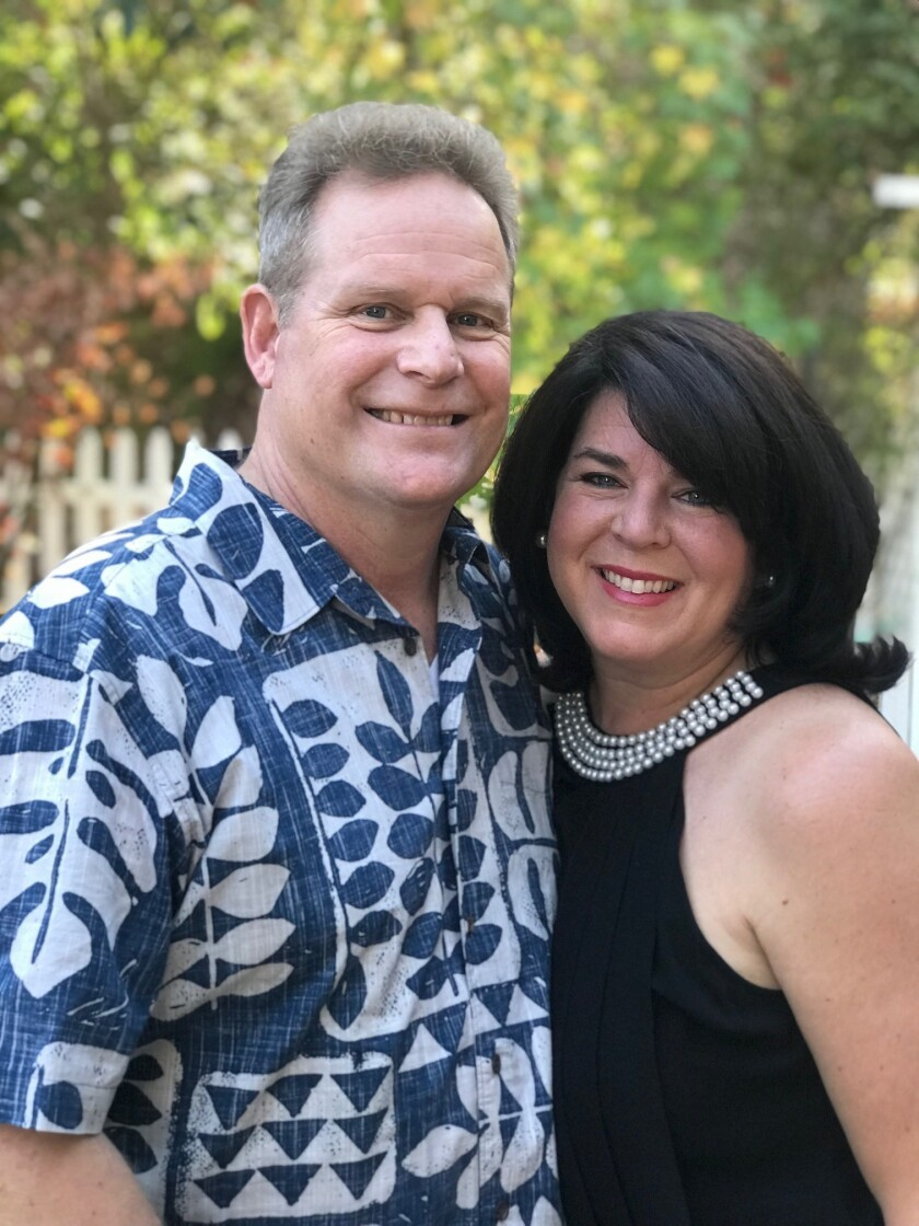 Pastor Scott Mitchell and his wife Laura are founders of the first 'Sunrise of Hope' mental health summit to be held at La Jolla Presbyterian Church, Saturday, March 9.