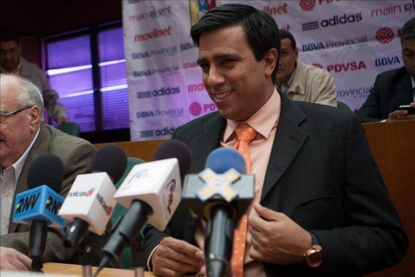 Imagen de archivo del seleccionador de Venezuela, Cesar Farias. EFE/Archivo