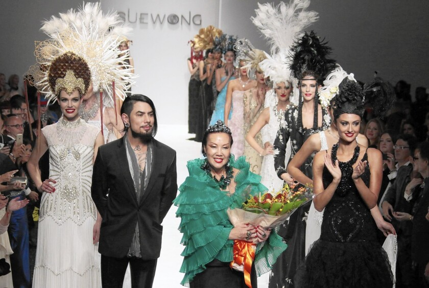 Fashion designer Sue Wong