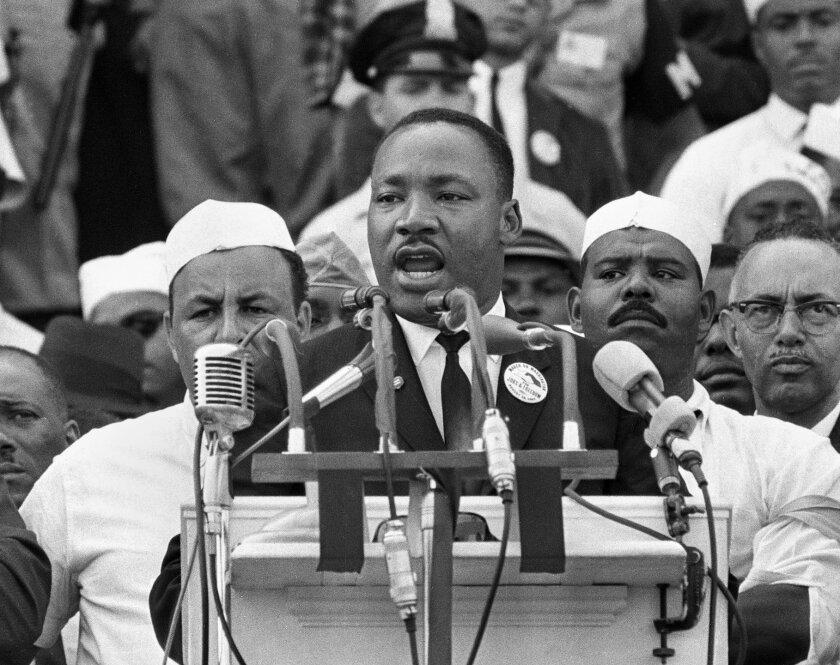 Martin Luther King Jr. giving a speech.