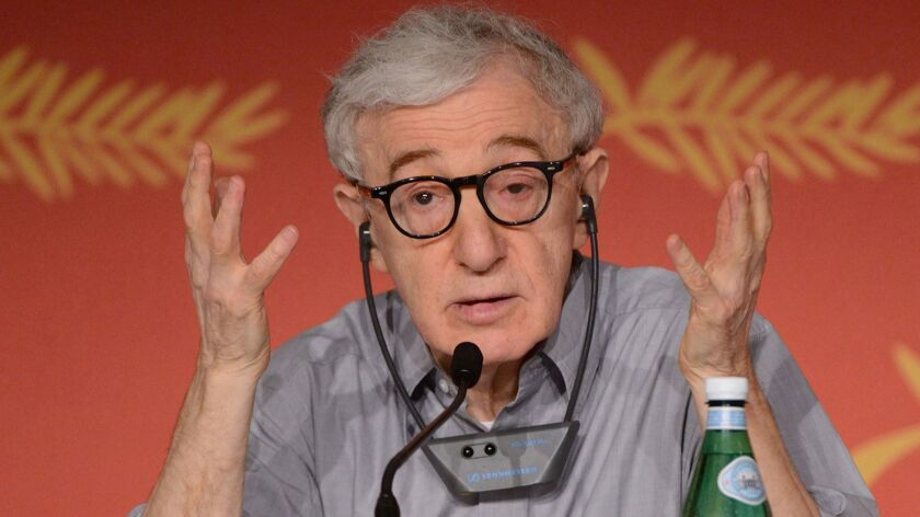 Woody Allen, shown at a news conference as part of the 69th Cannes Film Festival in Cannes, France, on Wednesday, May 11, 2016.