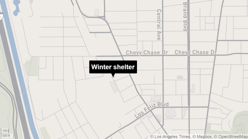 Shelter off San Fernando Road in Glendale