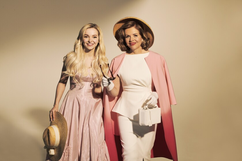 "Dove Cameron, left, as Clara Johnson and Renee Fleming as Margaret Johnson in L.A. Opera's staging of ""The Light in the Piazza."""