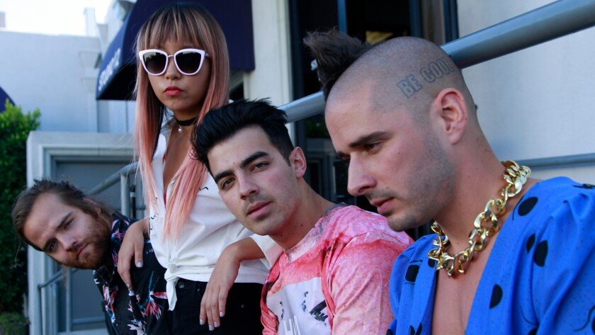 With A Little Disco And A Little Weirdness Joe Jonas Brings Dnce To Wango Tango Los Angeles Times